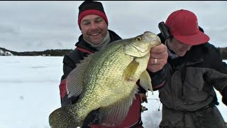 TagTeaming Huge Crappie HD - Uncut Angling - January 12, 2013