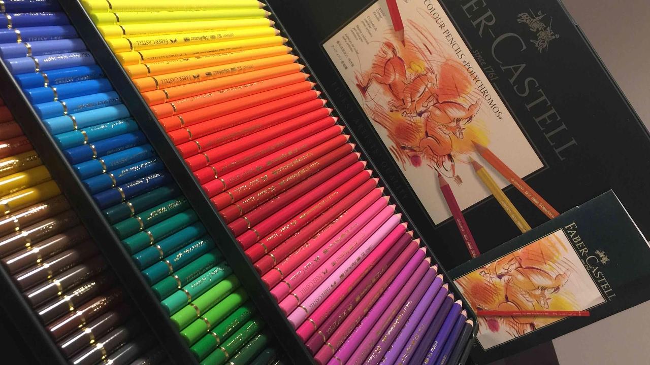faber castell polychromos colour pencils set of 120 unboxing