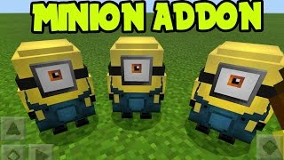 "Minecraft Pocket Edition "" MINIONS "" PE // MCPE 1.0 - MINION Addon and Behavior Pack! (MCPE MINIONS)"