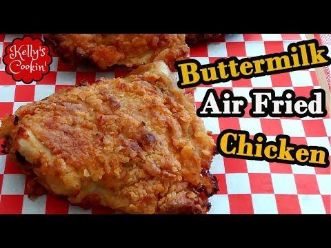Air Fried Chicken Thighs Air Fryer Buttermilk Chicken Thighs