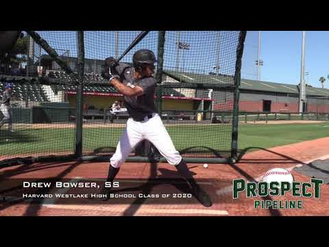 Drew Bowser Prospect Video, SS, Harvard Westlake High School Class of 2020