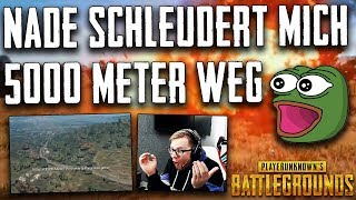 PUBG - 5000 Meter von Granate weggeschleudert :D ! Twitch Stream Highlights Deutsch German