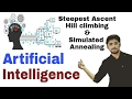 Steepest Ascent Hill Climbing | Simulated Annealing | Artificial Intelligence in hindi #22