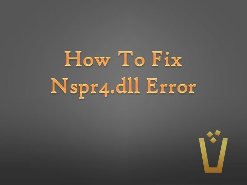 How To Fix Nspr4.dll Error