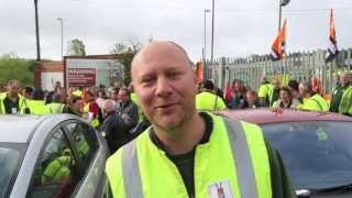 Brighton Cityclean Workers on strike speak out from the picket line