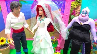 Mermaid Ariel and Eric Wedding Dress Makeup Disney Princess Routine Wedding Shop