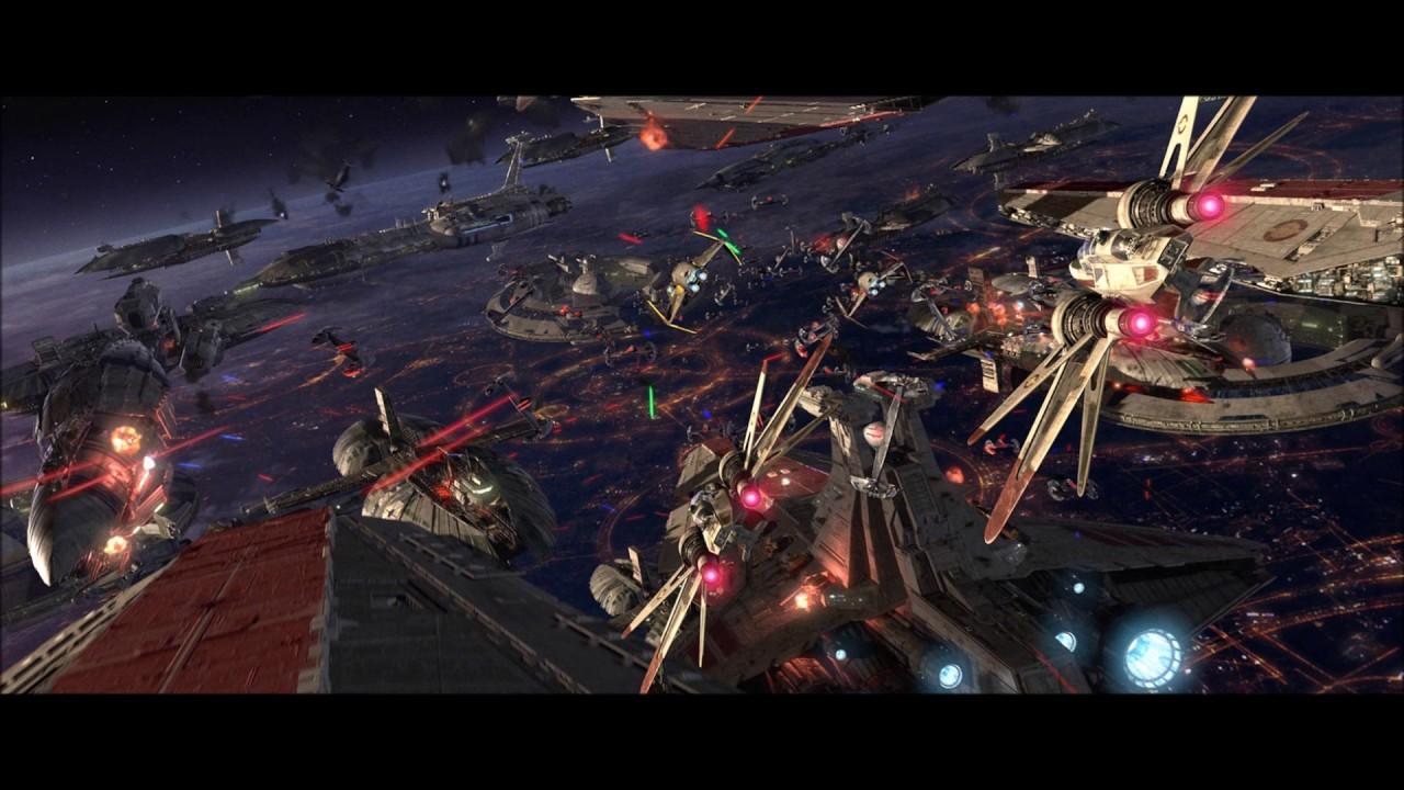Star Wars Episode Iii Soundtrack Battle Over Coruscant 2 Youtube