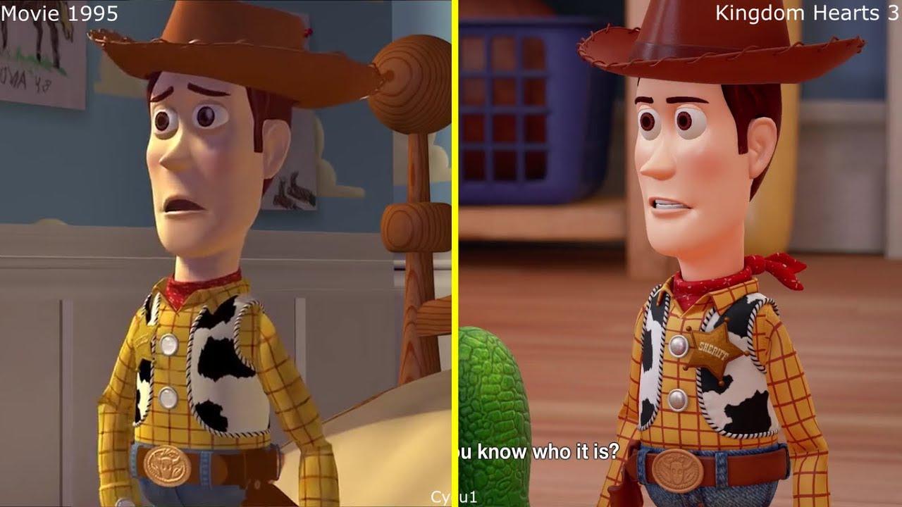 Kingdom Hearts Iii Toy Story Game 2017 Vs 1995 Movie Comparison