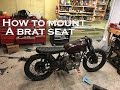 How to build a CB550 Cafe Racer / Brat : Part 5 Mounting a Brat seat