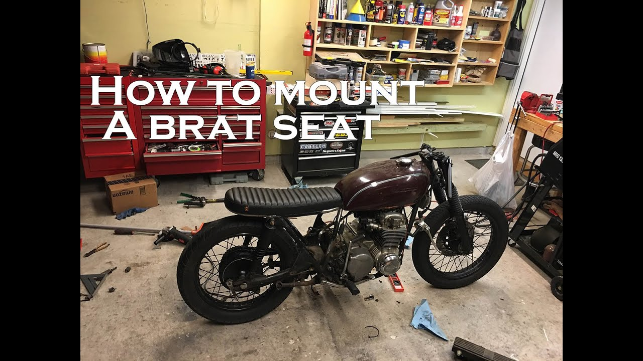 How To Build A CB550 Cafe Racer Brat Part 5 Mounting Seat