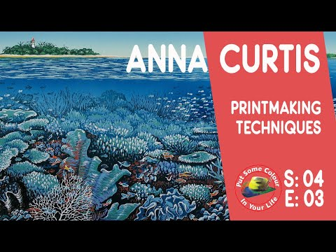 Art tips with a Free Lino Print Art Lessons with Anna Curtis on Colour In Your Life