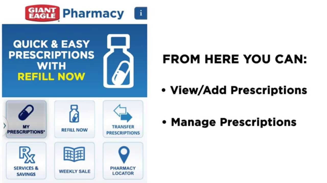 Managing Your Prescriptions The Giant Eagle Pharmacy Mobile App