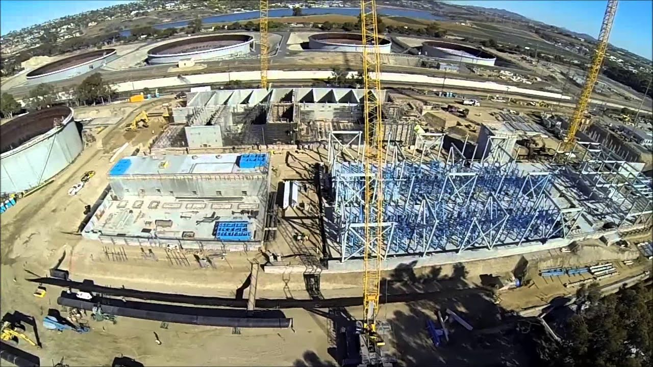 Carlsbad Desalination Plant Fly Over January 2014
