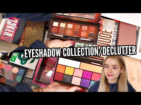 HUGE EYESHADOW PALETTE  COLLECTION/DECLUTTER!! | sophdoesnails
