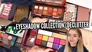 HUGE EYESHADOW PALETTE  COLLECTION/DECLUTTER!! | sophdoesnails thumbnail