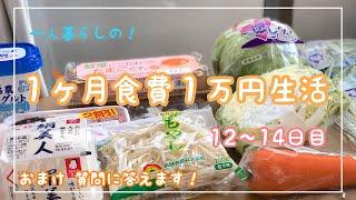 1ヶ月食費1万円生活【その5】一人暮らしの食費節約/一口コンロ