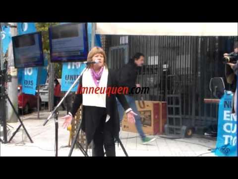 Los militantes K neuquinos le hicieron el aguante a Cristina