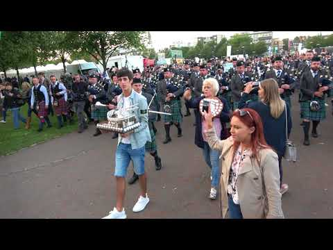 World Champions 2017 - Inveraray & District Pipe Band March Off after the Finale
