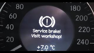 problem is solved error service brake visit workshop on the mercedes e class w211 service brake
