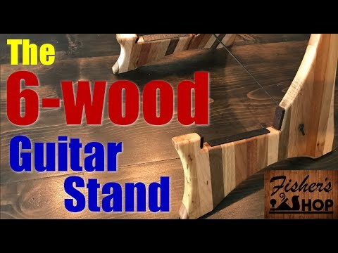 Woodworking: The 6-wood Guitar Stand!