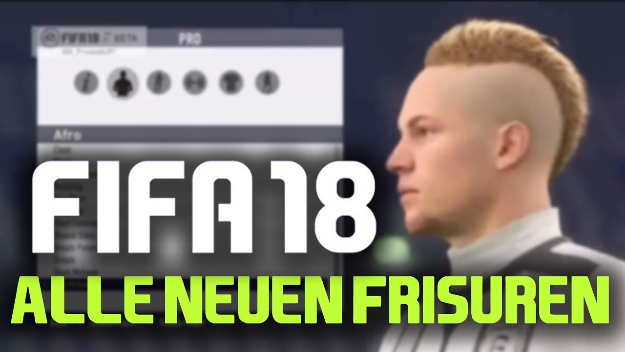 fifa 18 pro clubs alle neuen frisuren haircuts. Black Bedroom Furniture Sets. Home Design Ideas