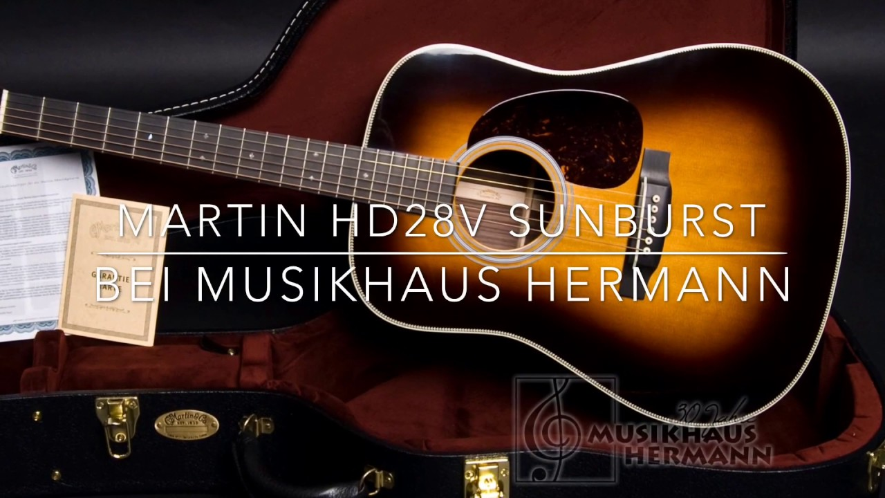 Martin Hd28v Sunburst Youtube