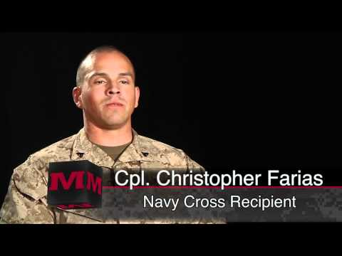 Marine thwarts ambush, receives Navy Cross