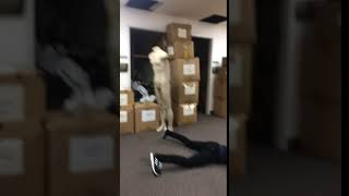 Allfails  kid tries to kick headless mannequin slips fails