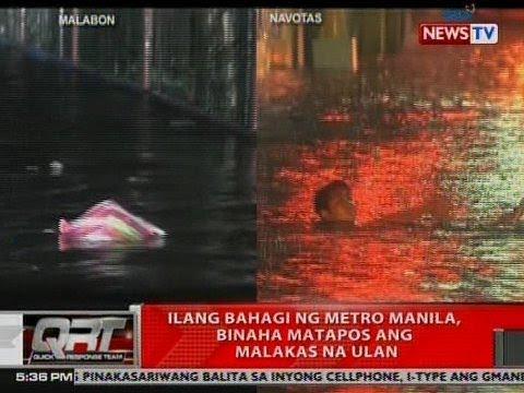 QRT: Ilang bahagi ng Metro Manila, binaha matapos ang malakas na ulan