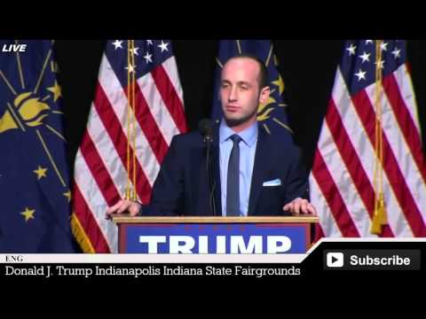 This Is Your Chance America! @ Donald Trump Rally Indiana-Stephen Miller Speech
