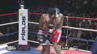 K-1 MAX FINAL 16 2009 - Buakaw vs Dida - English commentary 2/3