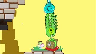 Bad Piggies -  STRAIGHT PUNCH BAD PIGS TO WOOD CRATE! Cake Race!