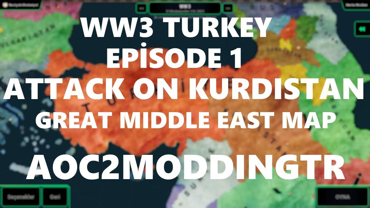 AoC2 Büyük Ortadoğu Haritası WW3 Türkiye - Bölüm 1 (KÜRDİSTAN'A HÜCUM)
