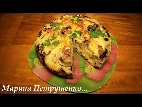 Пирог в мультиварке с колбасой и сыром