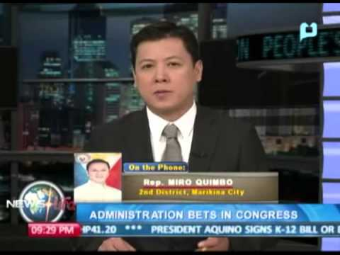 NewsLife Interview: Rep. Miro Quimbo, 2nd District, Marikina City - Admin. bets in Congress