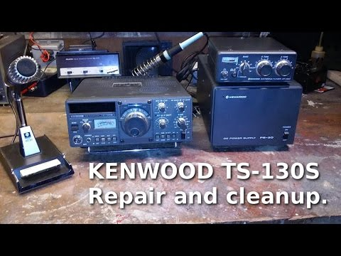 Ham Radio - Kenwood TS-130S repair and cleanup.
