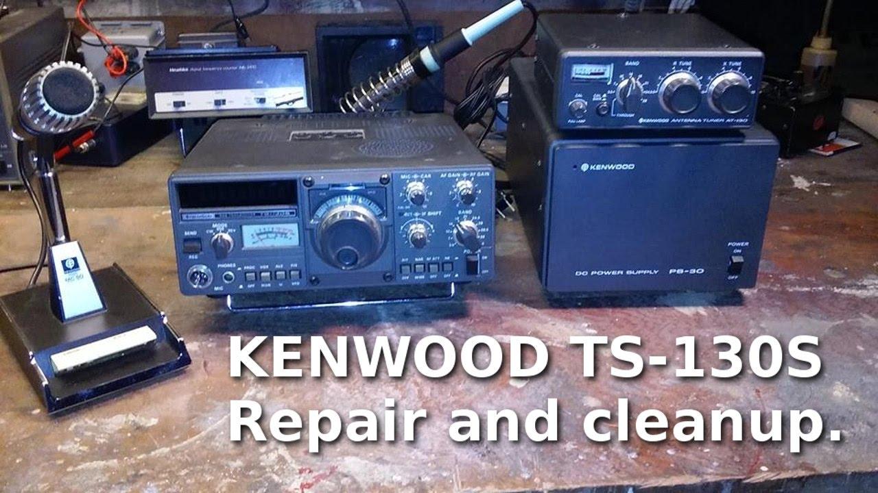 Ham Radio - Kenwood TS-130S repair and cleanup