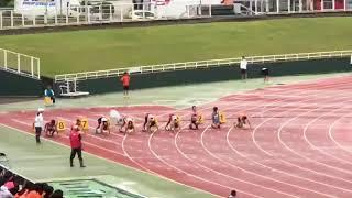 大分市中学校総合体育大会   二年男子100m  決勝   11:53