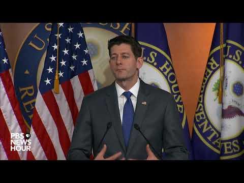 PBS NewsHour: WATCH: Speaker Ryan holds weekly press briefing