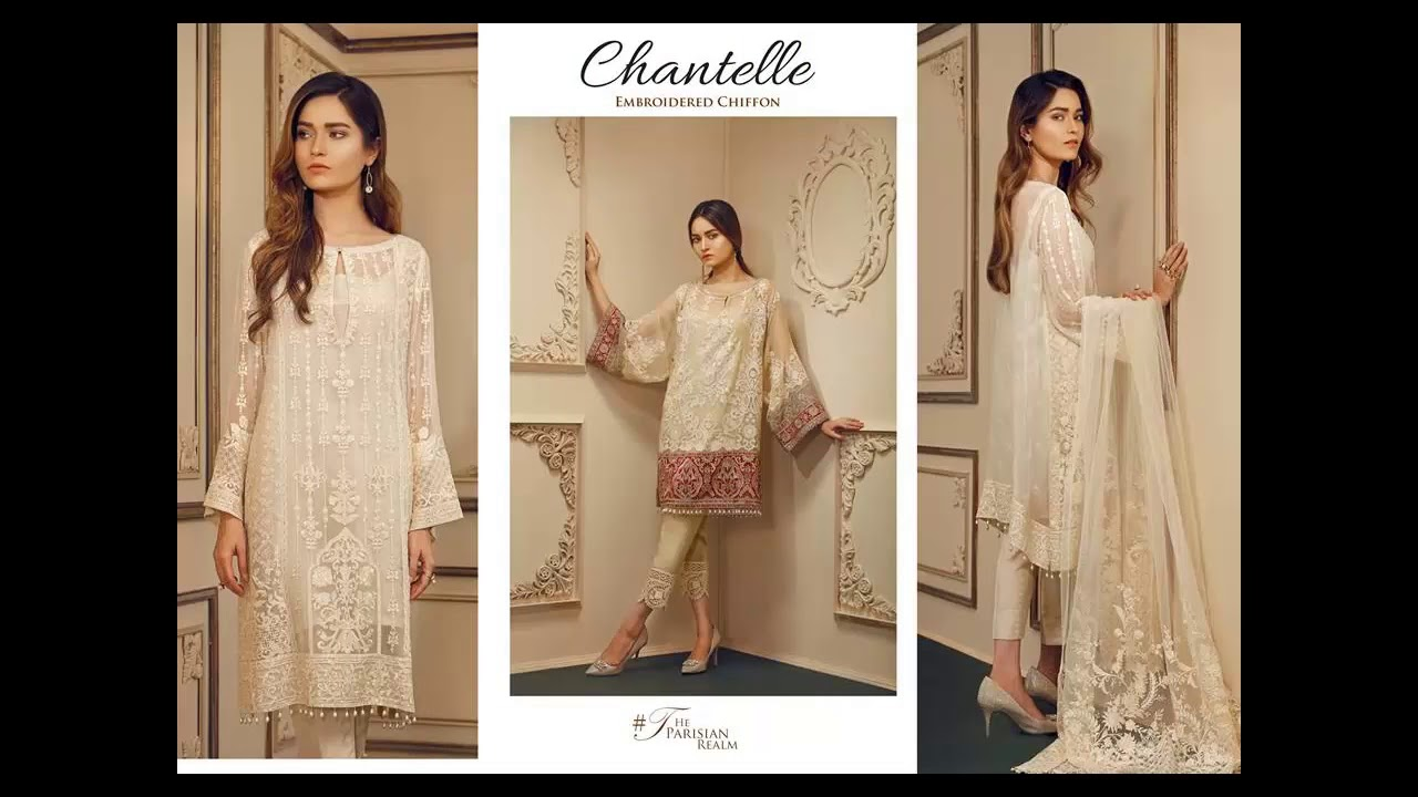 3d6d3507ca89d Chantelle by Baroque Winter Embroidered Chiffon Collection 2017 ...
