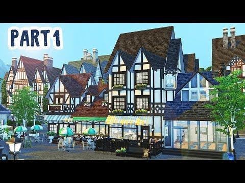 Cafe, Bookstore, Yoga Studio, & Laundromat Part 1 || The Sims 4: Speed Build