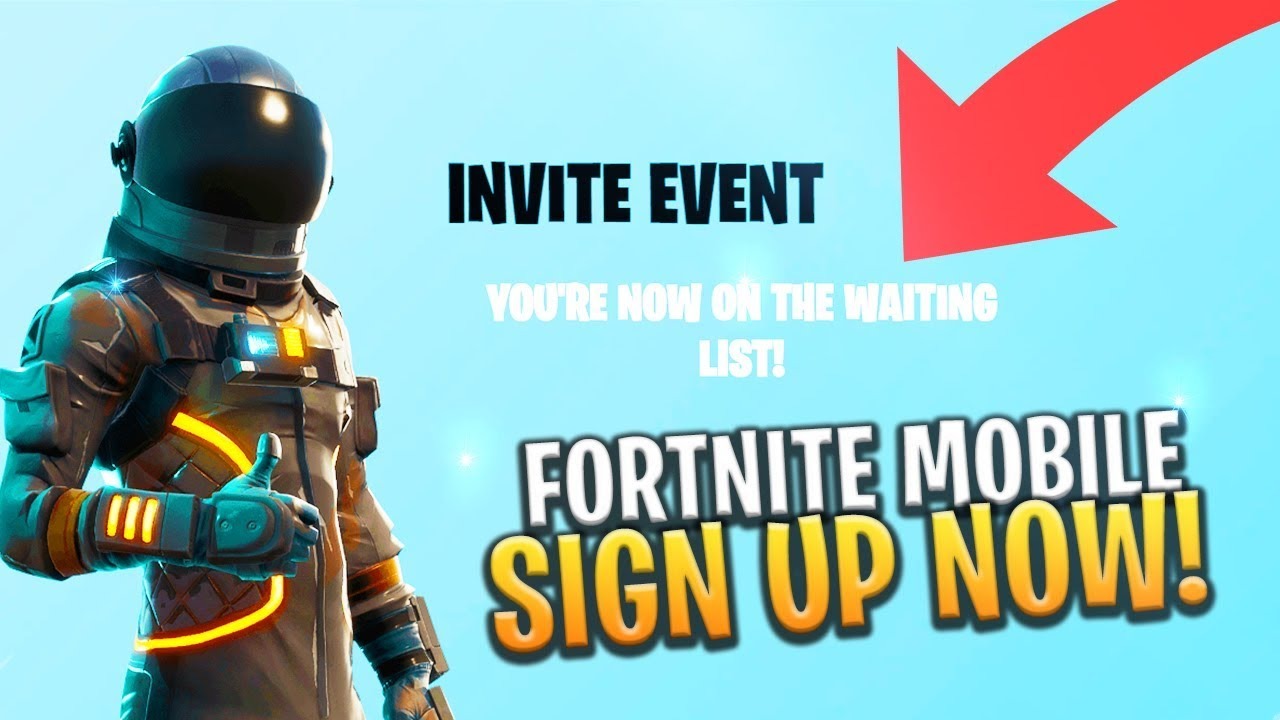 Fortnite Mobile How To Sign Up Now Ios Android Free Codes
