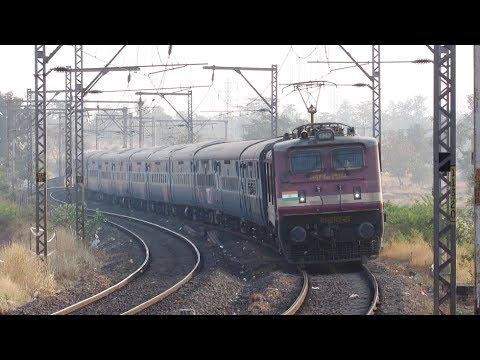 Train on S-CURVE | 01027 VARANASI AC Special - Indian Railways !!