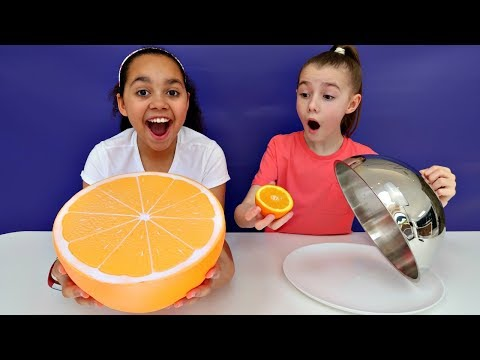 Giant Squishy Food VS Real Food Challenge | Toys AndMe