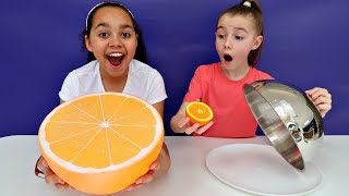 giant-squishy-food-vs-real-food-challenge-toys-andme