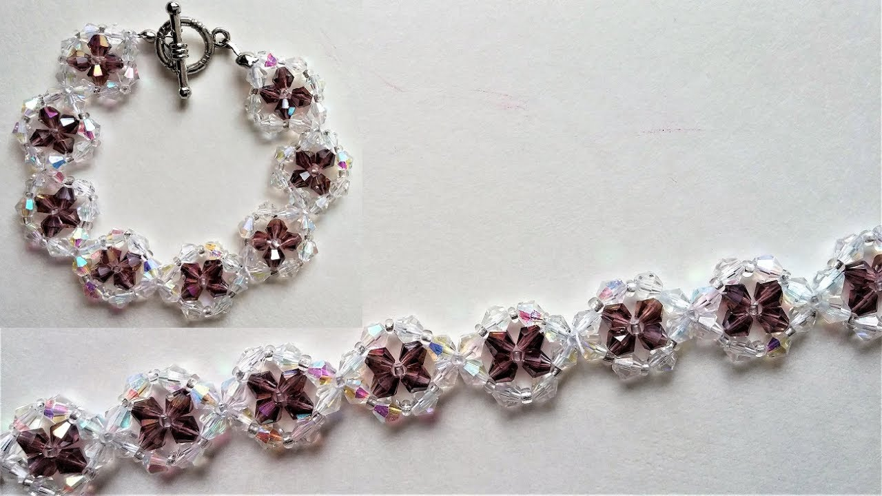 e452cdcba498 Swarovski Crystal Bracelet Beading Jewelry Making Tutorial - YouTube