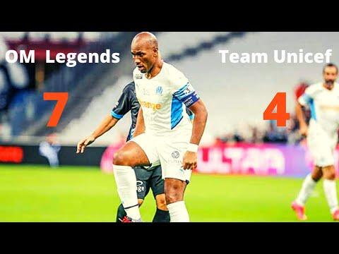 OM legende vs Team Unicef (7-4) Résumé des buts | HD 2021