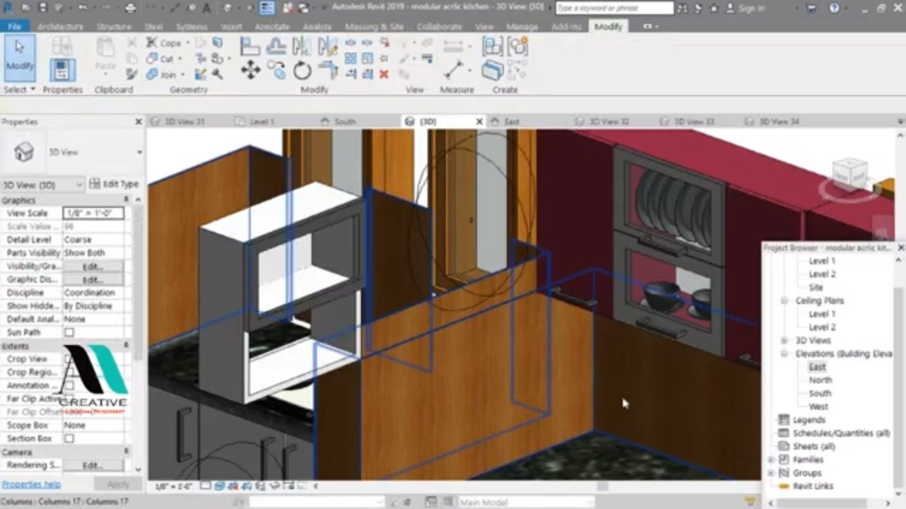 Modular Kitchen Design In India Ah Creative Taliparamba Your Interior Designing Partner Youtube