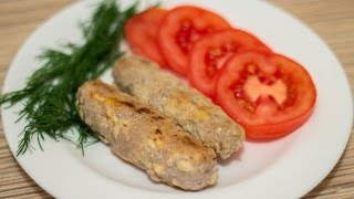 Домашние сосиски с сыром