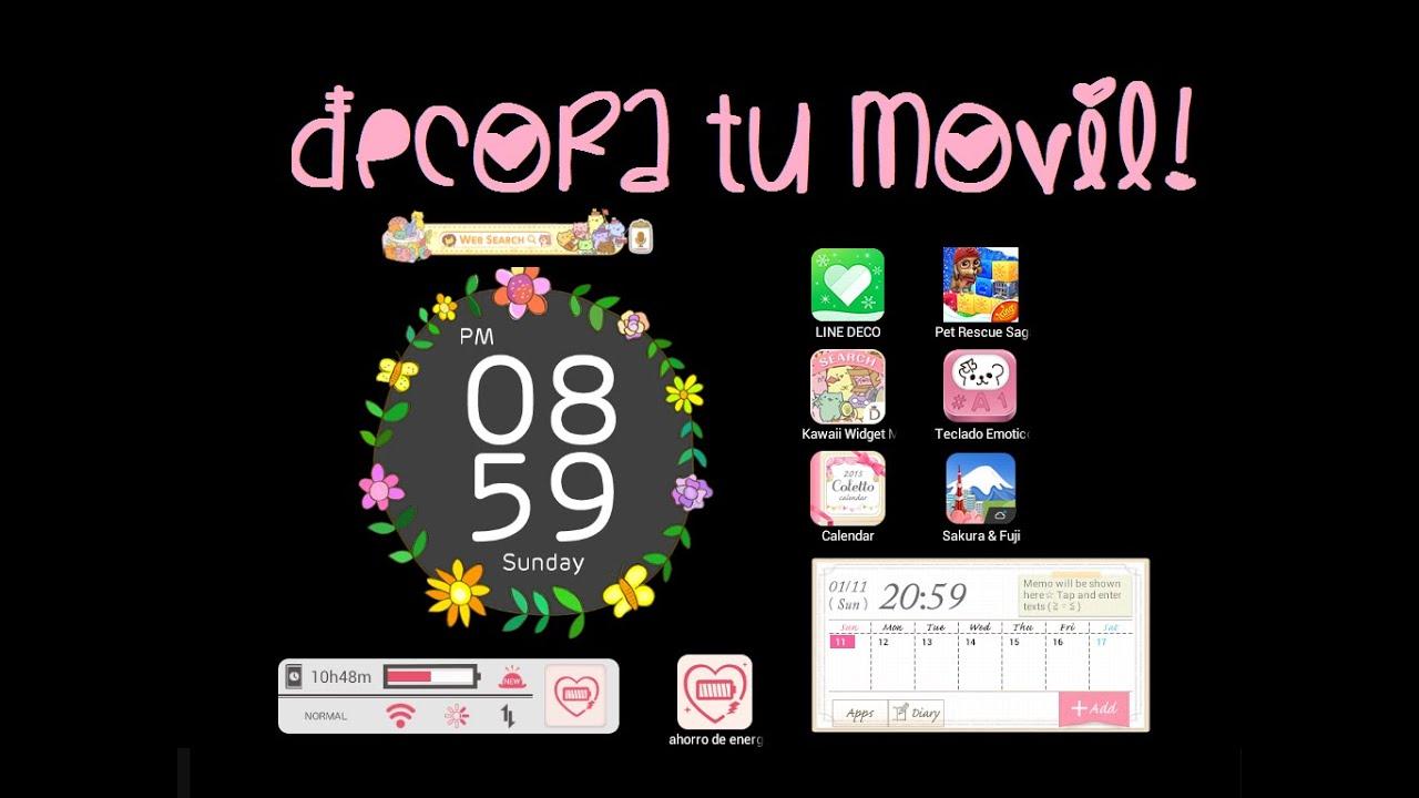 Primer video aplicaciones para decorar tu m vil for Aplicaciones para decorar el movil
